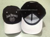 Продукция фабрики подгоняла вышитую логосом бейсбольную кепку напольных спортов черноты Twill хлопка