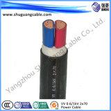 Multi-Cores 6kv isolation en polyéthylène réticulé de bandes en acier gainé PVC blindés de câble d'alimentation