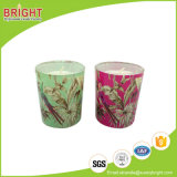 Kundenspezifische Abziehbild-Fertigkeit gerochene Glaskerzen für Geschenk-Gebrauch