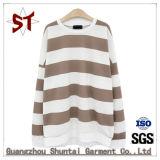 Senhoras Striped Fashion encapuzados simples