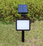 48의 LEDs 태양 마이크로파 레이다 운동 측정기 빛 IP65는 벽 마운트 조경 삽입 태양 정원 빛을 방수 처리한다