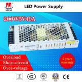 Schalter-Modus-Stromversorgung Wechselstrom-Gleichstrom-5V 40A für die LED-Bildschirmanzeige 200W ultradünn