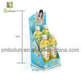 Mini visualización de papel modificada para requisitos particulares de la bebida de la cartulina del refrigerador para la promoción de las bebidas