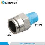 """Aço inoxidável de Xhnotion que cabe 16mm x 1/4 do """" de metal feito-à-medida NPT conetor reto masculino"""