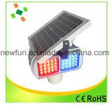 Aviso de Segurança na Estrada Luz Solar