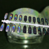銀製のHoloのクロムゲルの釘の粉のホログラフィックきらめきの顔料