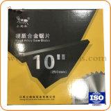 "10"" 80t Tct carboneto circular da lâmina de serra para corte de madeira e o Alumínio Diamond Ferramentas de Hardware"