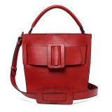 100%の実質の革ハンドバッグの広州の工場方法デザイン女性ショルダー・バッグEmg5175