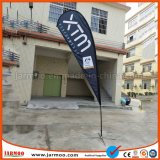 X十字ベースが付いている屋外の羽の上陸海岸表示旗の広告