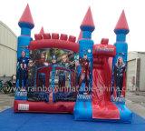 Novo Design Encaracolados Insuflável Castelo de saltos para populares Carton