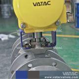 Operado de RF de neumáticos de acero fundido de brida Válvula de bola de puerto de la V