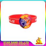 Praktische Produkt-mehrfaches Farben-Sonderdruck-Firmenzeichen-Silikon-Armband