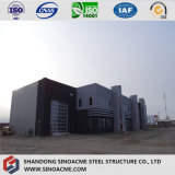 平屋根が付いている倉庫のための鉄骨フレームの構造