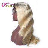 Haut de la qualité couleur de cheveux vierges deux ton ombre perruque blonde Couleur Dentelle avant