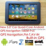 """Táctil capacitiva de 5,0""""Alquiler de carretilla Marine, navegación GPS con Wince Fmtransmitter, navegador GPS, Bluetooth, AV-en la cámara trasera, sistema de navegación GPS de mano"""