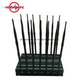 Stampo da tavolino dell'emittente di disturbo CDMA/GSM/GPS/3G del segnale del telefono mobile, più nuova emittente di disturbo della macchina fotografica della spia tutte le fasce della macchina fotografica senza fili 1.2g 2.4G 5.8g,