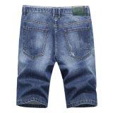 Moda dos homens calças capri recortada Casual calças calças jeans de Lazer