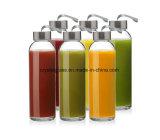 Mehrfachverwendbare Glaswasser-Flaschen mit einer 18 Unze-Kapazität für Kombucha, Smoothies, Saft,