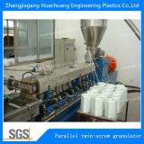 PA die de Gebruikte Tweeling Plastic Pelletiseermachine van de Schroef voor Gerecycleerd Plastiek korrelen