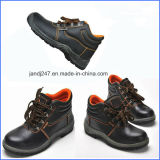 De beste Laarzen van de Veiligheid van het Leer van de Kwaliteit met het Enige of Rubber Enige slijtage-Bewijs van Pu in de Prijs van de Fabriek Guangzhou