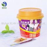 Wegwerfheißer Suppe-Papierzoll gedruckte Nudel-Filterglocken mit Kappen