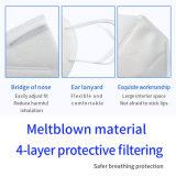 4 lonas descartáveis não tecidos de boca contra pó N95 Protecção Earloop Camuflagem Kn95 face a camuflagem
