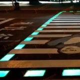 Os peões atravessar a segurança rodoviária LED das luzes de estrada, luz de cruzamento Zebra