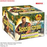 500g corps spécial 25coups de feu d'artifice de gâteau