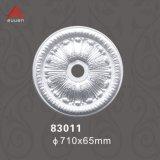 83011 N° OEM Support plafond PU européenne médaillons avec ornements de polyuréthane haute densité