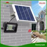 調節可能な明るさの屋外の防水10Wリモート・コントロール太陽フラッドランプ