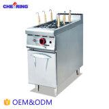 Het Kooktoestel van de Deegwaren van het Gas van de Apparatuur van de Catering van het roestvrij staal met Kabinet