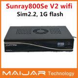 2014 Nouvelle arrivée Sunray Se V2 WiFi DM800Se-S V2 1Go de mémoire flash 512 Mo de RAM Processeur 400 MHz Case SIM2.2 Sunray récepteur satellite