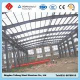 Edificio ligero prefabricado del almacén de la estructura de acero con el panel de emparedado de la PU