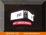 Tela de indicador do diodo emissor de luz do gabinete do ferro da instalação do RGB P10 P16 do MERGULHO/painel/sinal fixo ao ar livre/parede video