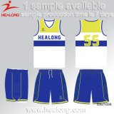 Healong China Wholesale Apparel Gear cualquier logo sublimación el Baloncesto Masculino uniformes