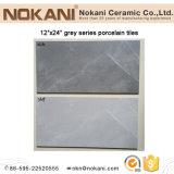 """12""""x 24"""" El patrón de azulejos de porcelana de color gris del suelo y pared"""