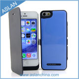 iPhone 5, 5s, Leather Cover (ASC-027)를 가진 5c를 위한 2000mAh Power 은행 Case