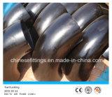 90 grados del acero de carbón X52 LR codean las guarniciones del tubo sin soldadura