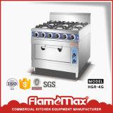 intervallo di gas commerciale 4-Burner con il forno di gas per la cucina (HGR-4G)