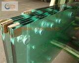 porte en verre claire de verre trempé de 12mm (pour la maison de construction)