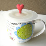 Многофункциональная здоровая крышка кофейной чашки силикона, крышка чашки чая (JW035)