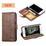 Portefeuille en cuir d'arrivée de nouveaux cas de téléphone cellulaire pour la Note 5
