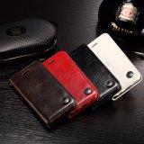 Cuir véritable Flip téléphone mobile pour la plupart des cas de la marque