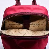 Zaino molle del Peony della pesca di fiore del reticolo dell'unità di elaborazione del sacchetto impermeabile di cuoio rosso delle donne