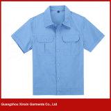 Fabricación de manga corta de algodón desgaste de trabajo uniforme para hombres (W127)