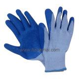 Gant de travail de latex d'adhérence de 10 de mesure gants de polyester