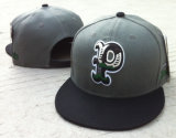 sombreros del Snapback de la pana del bordado 3D rojos