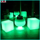 Remoto Cotro LED Color Changeble PE Cubo de Hielo cubo de hielo