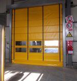 자동화된 알루미늄 프레임 Recoerable PVC 빨리 산업 급속한 회전 문