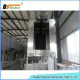 Sistema de revestimento automático do pó com pré-tratamento de pulverização